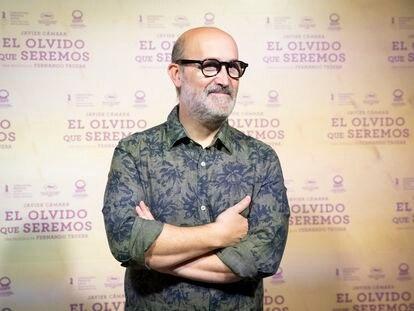Javier Cámara, en la presentación de la película 'El olvido que seremos' en Madrid el pasado miércoles.