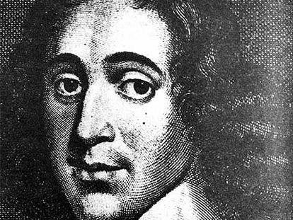 Retrato del filósofo Baruch Spinoza (1632-1677), en un grabado.