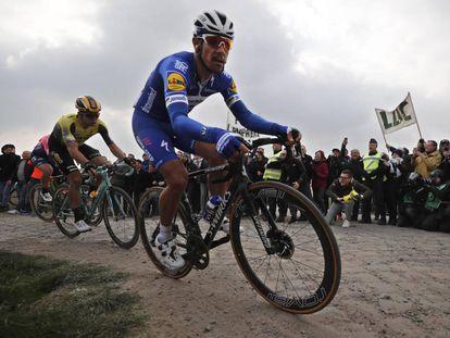 Philippe Gilbert, en el pavés de la París-Roubaix.
