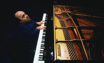 Michel Petrucciani, durante un concierto en París el 9 de febrero de 1993.