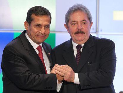 Humala y Lula da Silva, este miércoles en Lima.
