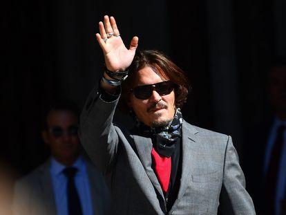 Johnny Depp, a su llegada al Tribunal Supremo de Londres, este martes.