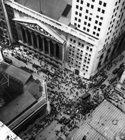 La Bolsa de Nueva York, en el crack de 1929, el inicio de la Gran Depresión.