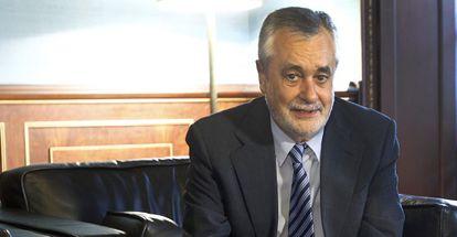 José Antonio Griñán, este miércoles tras la Conferencia de Presidentes autonómicos.