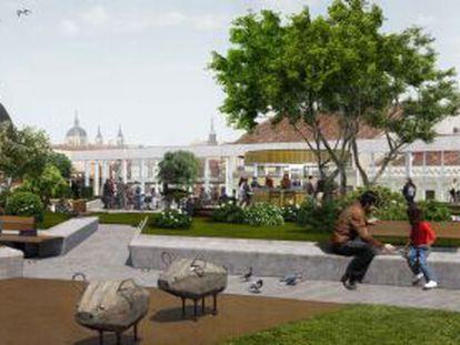 Proyección del futuro jardín aéreo de La Cebada.