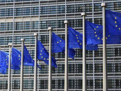 Exterior de la sede de la Comisión Europea, en Bruselas.