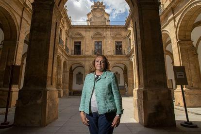 Concha Yoldi, presidenta de Persán, en la Universidad de Sevilla, antigua Fábrica de Tabacos de la ciudad, el 22 de junio.