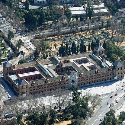 Vistas aéreas del Palacio de San Telmo.