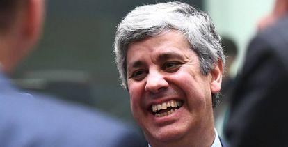 El ministro de Hacienda de Portugal y nuevo presidente del Eurogrupo, Mário Centeno, el lunes en Bruselas