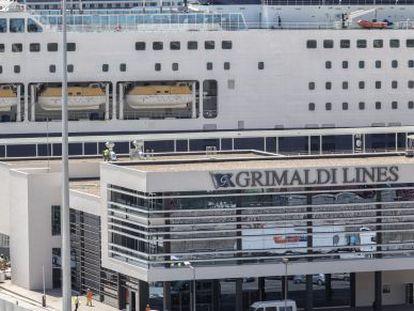 La terminal del Grupo Grimaldi en el puerto de Barcelona.