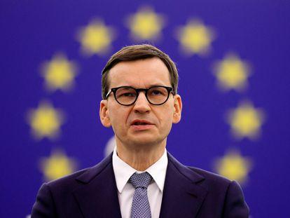 El primer ministro polaco, Mateusz Morawiecki, en Estrasburgo, el pasado día 19.