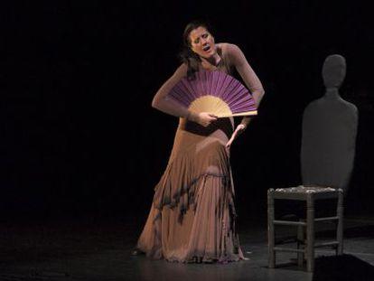 María Pagés, en un momento de su estreno en el Festival de Jerez.