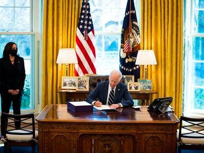 El presidente de EE UU, Joe Biden, el 11 de marzo en la Casa Blanca.