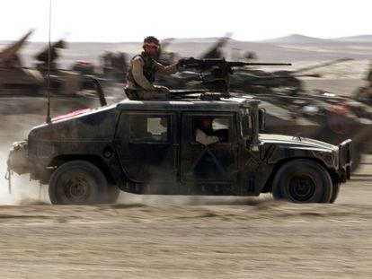 Marines estadounidenses en el sur de Afganistán, en diciembre de 2001, al principio de la guerra.