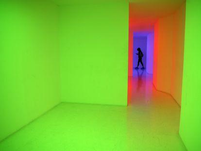 La obra del artista Carlos Cruz-Diez Chambre de 'Chromosaturation'.