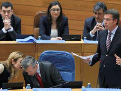 Sesión del control en el Parlamento gallego.