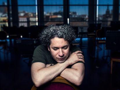 El director de orquesta Gustavo Dudamel, en el Teatro Real de Madrid en septiembre de 2020.