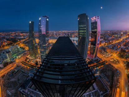 Foto realizada el 24 de octubre de 2020 desde la grúa que había instalada para la construcción de la Torre Caleido