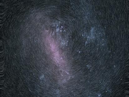 Imagen de una de las galaxias más cercanas a la Vía Láctea, tomada por Gaia.