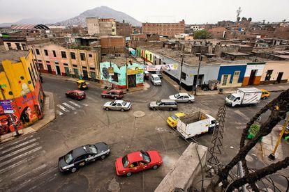 Una imagen del barrio limeño de Cinco Esquinas.