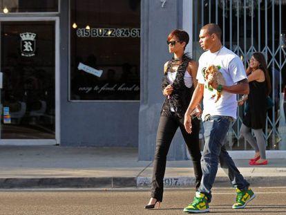 Chris Brown y Rihanna durante la época en que salían juntos.