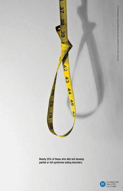 """FIT. """"Casi el 25% de los que hacen dieta desarrollarán trastornos alimentarios parciales o completos"""". Agencia desconocida."""