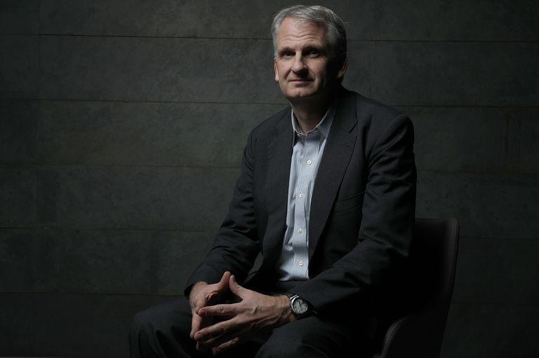 El historiador estadounidense Timothy Snyder en Madrid en 2018.