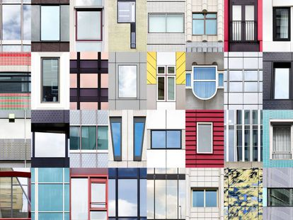 Collage de ventanas de Rotterdam (Holanda), que forma parte del proyecto artístico 'Windows of the world', del fotógrafo portugués André Vicente Gonçalves. |