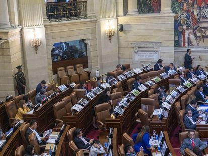 Una vista general del Congreso de Colombia.