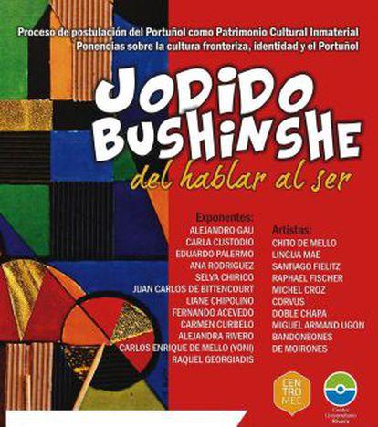 """Cartel del ciclo de conferencias """"Jodido Bushinshe. Del hablar al ser"""""""