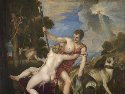 'Venus y Adonis', de Tiziano, que se expone en el Museo del Prado.