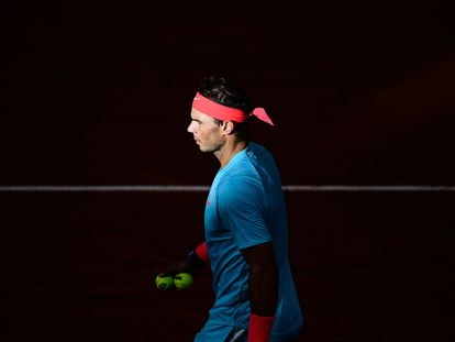 Nadal, durante un partido reciente en Roland Garros.