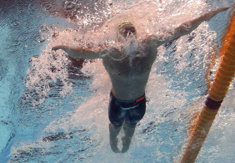 Cameron van der Burgh, en una prueba de 50m braza.