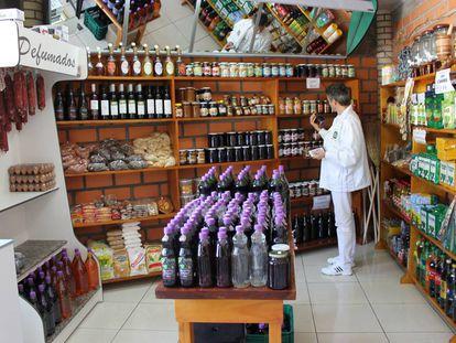 Tienda de productos coloniales en Brasil.