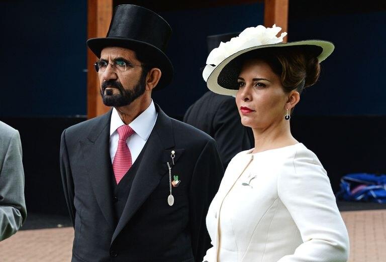 Mohammed bin Rashid y Haya de Jordania, en Londres, en 2016.