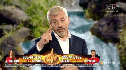 Carlos Sobera, presentador del debate de 'Supervivientes' en Cuatro.