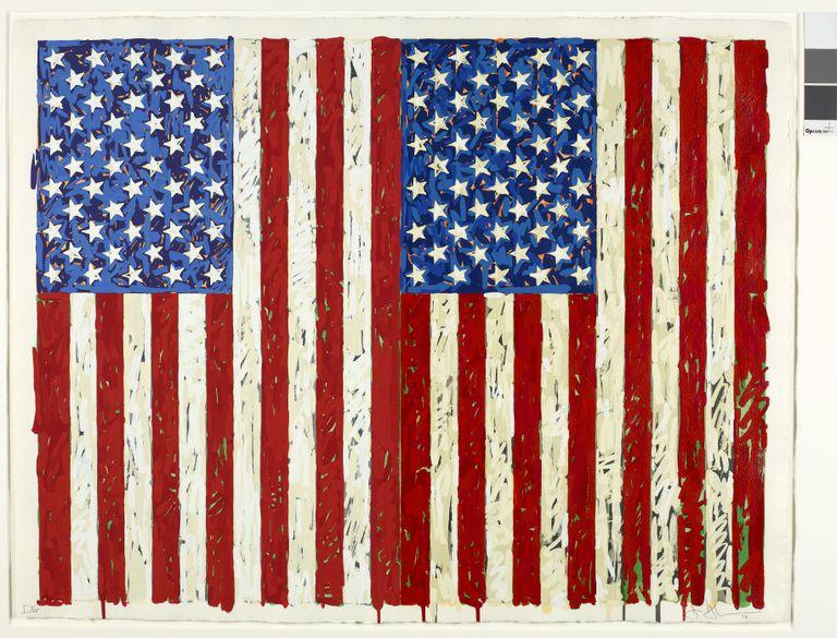 'Flags I' (1973), de Jasper Johns.