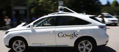 Un coche automático de Google en marcha.