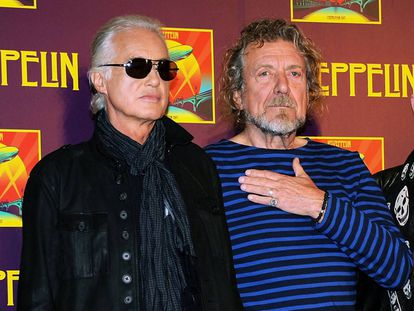 Jimmy Page (izquierda) y Robert Plant, de Led Zeppelin, en 2007 en Londres.