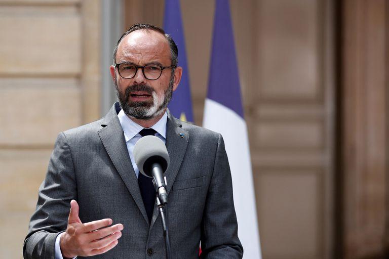 El primer ministro francés, Édouard Philippe, este viernes, en una rueda de prensa en París.