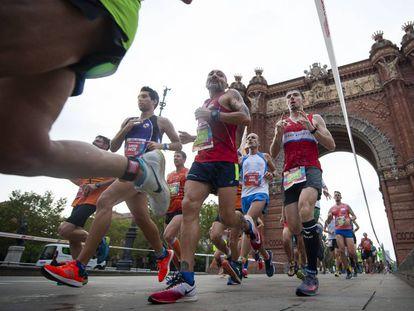 Participantes en la última edición de la cursa de la Mercè, en Barcelona.