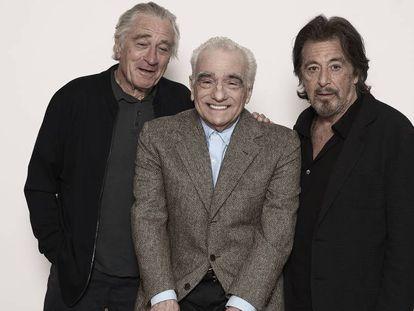 De Niro, Scorsese y Pacino, en Nueva York en septiembre. En el vídeo, tráiler de 'El irlandés'.