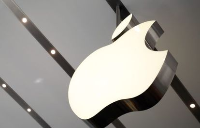 Logo de Apple en una tienda de Tokio.