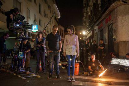 Uno de los rodajes en exteriores de la serie.