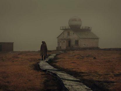 Observatorio abandonado en Kotelniy.