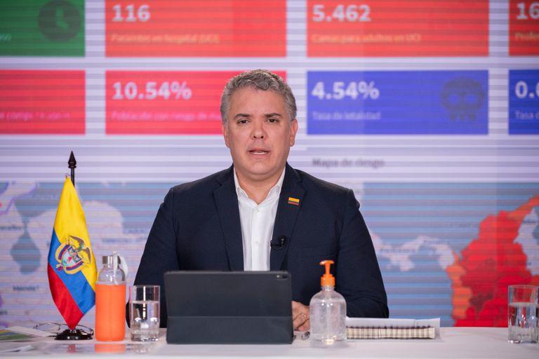El presidente Iván Duque en su programa 'Prevención y Acción'.