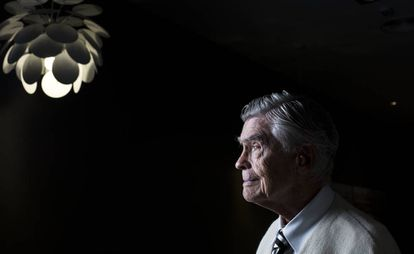 Mario Bunge, filósofo y científico argentino, fotografiado en Madrid con 94 años.