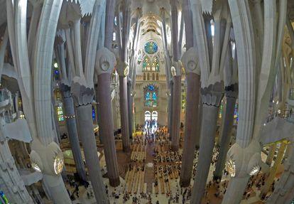Visita de obras a la Sagrada Familia de Barcelona.