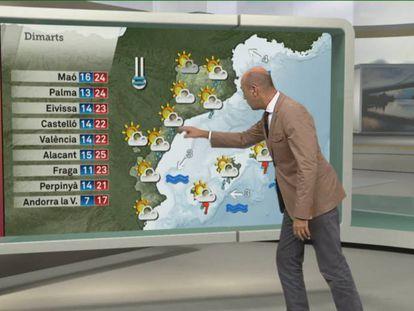 Captura de pantalla del programa 'El Temps' de TV3, conducido por Tomàs Molina.