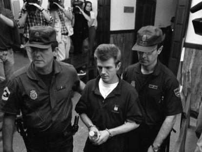 Miguel Ricart, en el juicio por el crimen de Alcàsser en 1997.